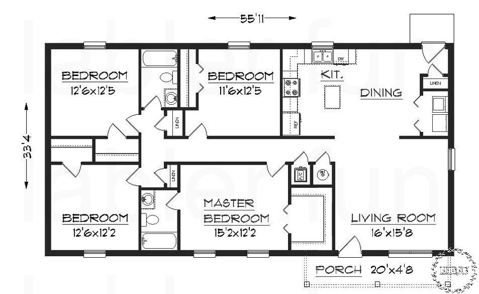 4 bedroom condominium floor plans in 2020 Cottage floor