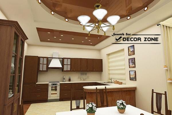 Stretch Ceiling Designs For Kitchen And Dining Area Ceiling