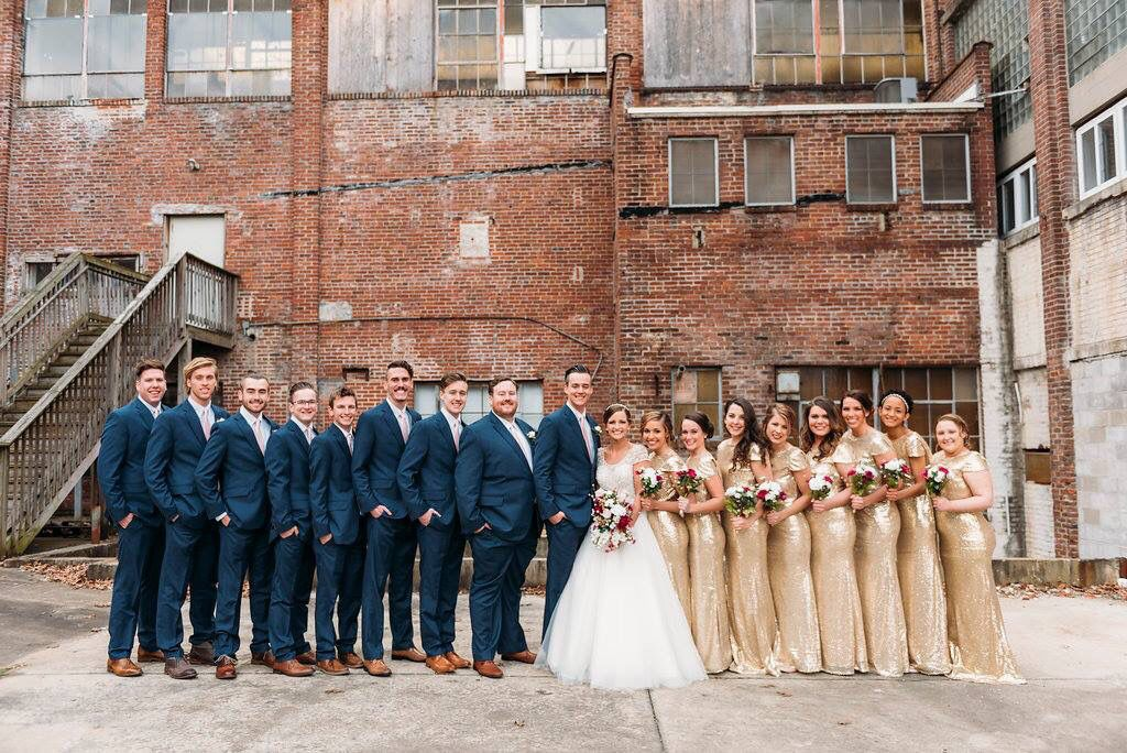 Navy Blue Sequined Gold Wedding Party Long Bridesmaids Dresses Navy Suit Bridesmaid Bridesmaid Dresses Gold Bridesmaid Dresses
