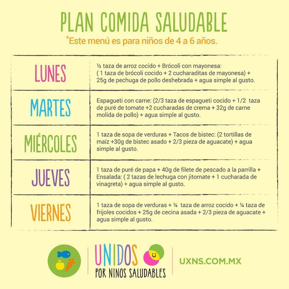 Plan Comidas Saludables Niños