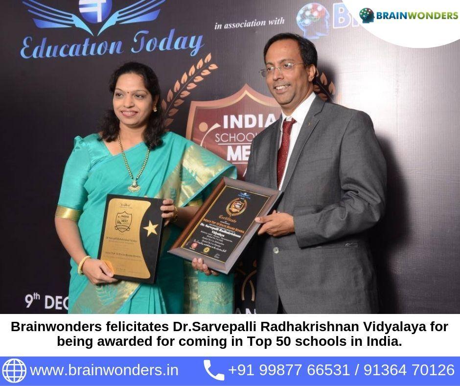Brainwonders felicitates Dr.Sarvepalli Radhakrishnan