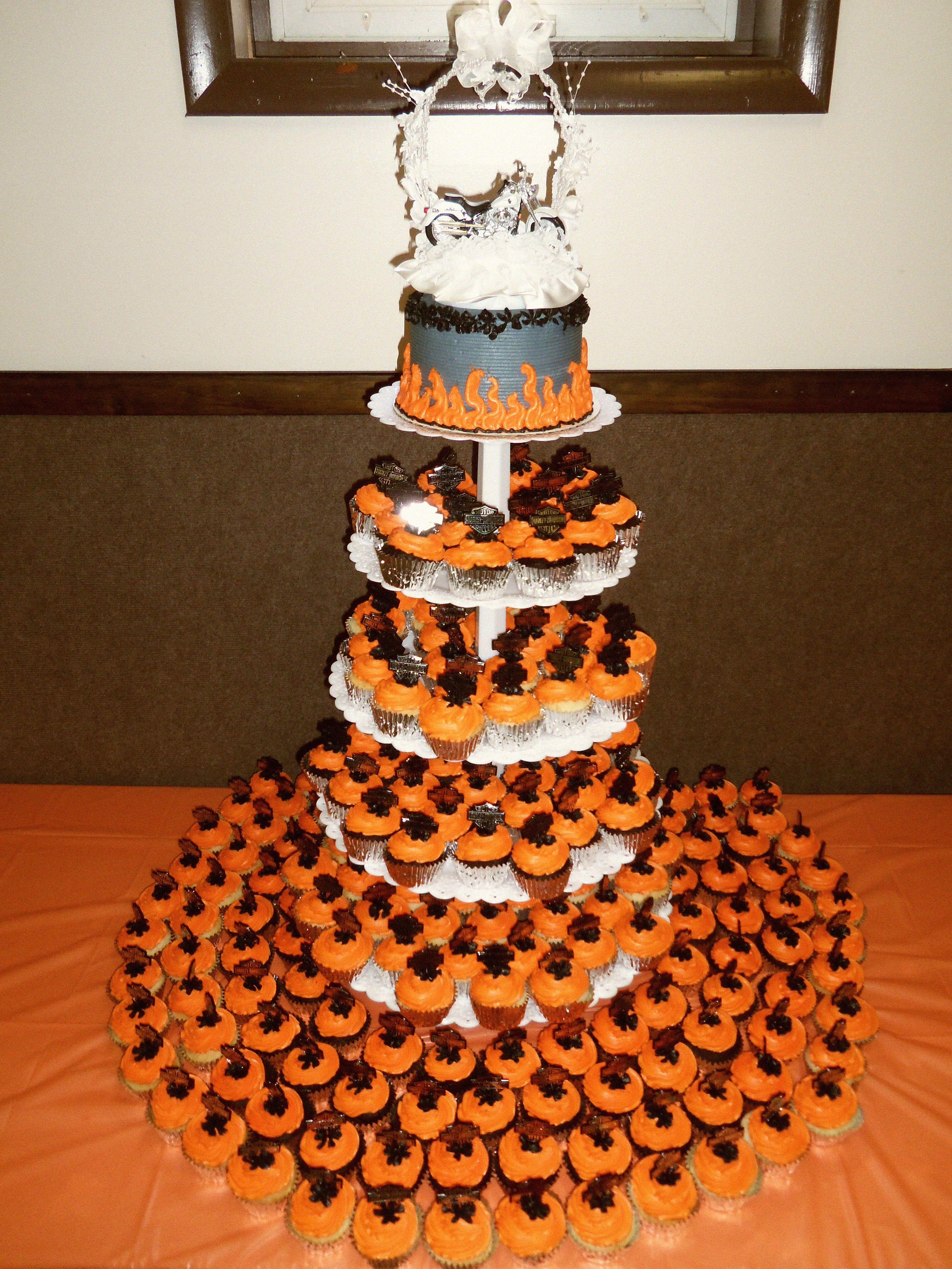 Harley Davidson Cupcake Wedding Cake by Nancy K. | Great Cakes ...