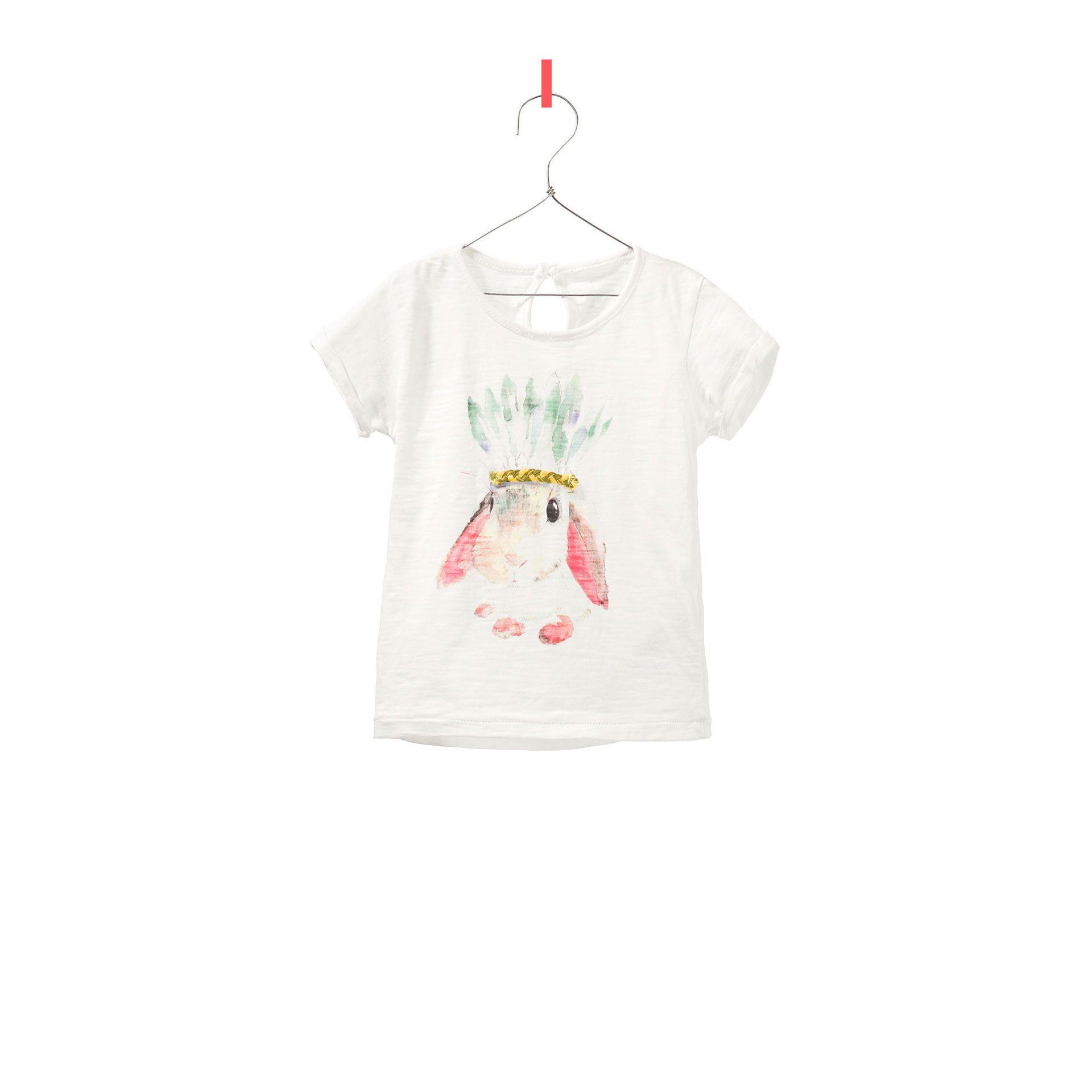 Bunny With Braids T Shirt T Shirts Baby Girl Kids Zara United States