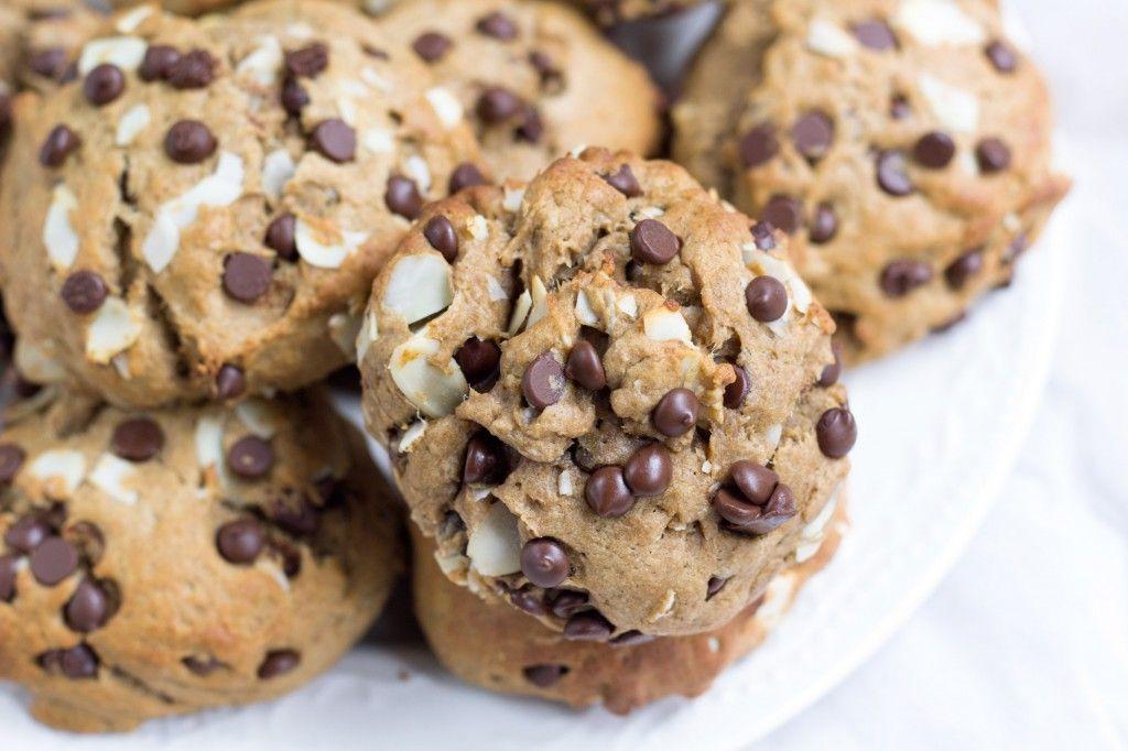 Chocolate Chip Banana Bread Muffin Tops Vegan