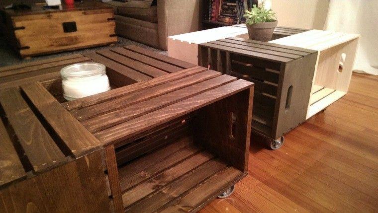 Muebles reciclados cajas madera pallets bricoman a for Diseno de muebles con madera reciclada