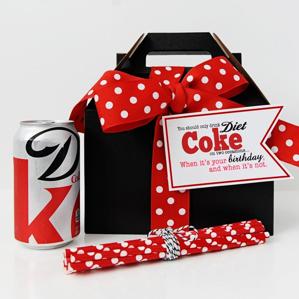 Diet Coke Birthday Package Pink Peppermint Prints Tammy