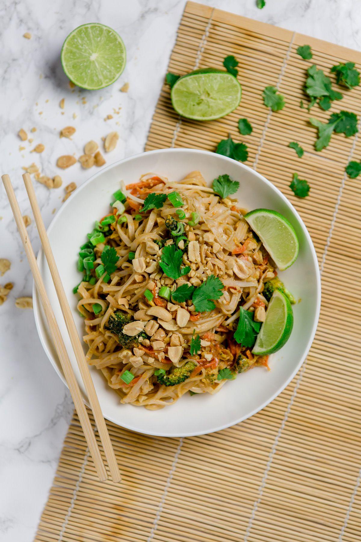 Vegetarisches Pad Thai Schnell Und Einfach Mit Wow Effekt Pinterest