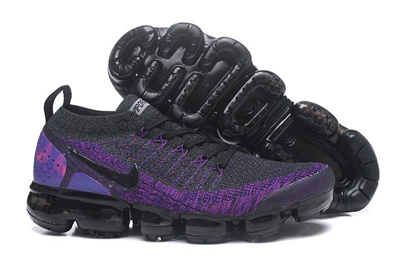 7781c2c5e4de0 New Arrival Nike Air VaporMax Flyknit 2.0 Dark Grey Purple Men s-Women s Running  Shoes 942842-600