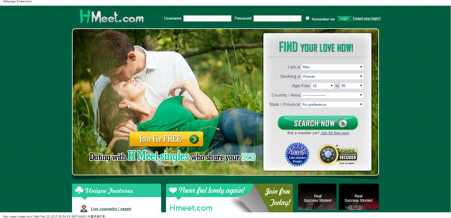 Online dating site herpes
