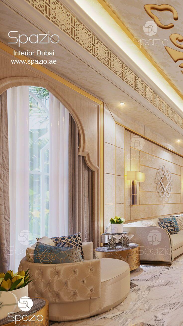 Modern Moroccan Style Living Room Design In Dubai