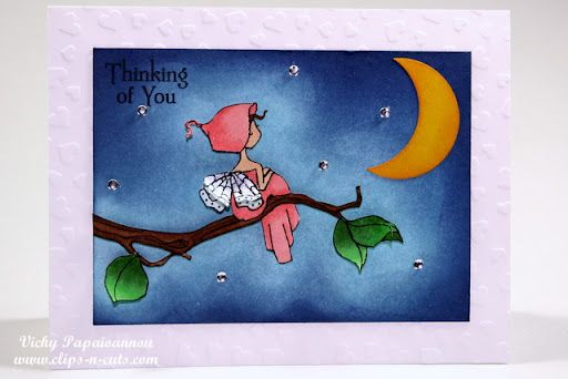 """""""Thinking of you"""" card and night sky tutorial"""