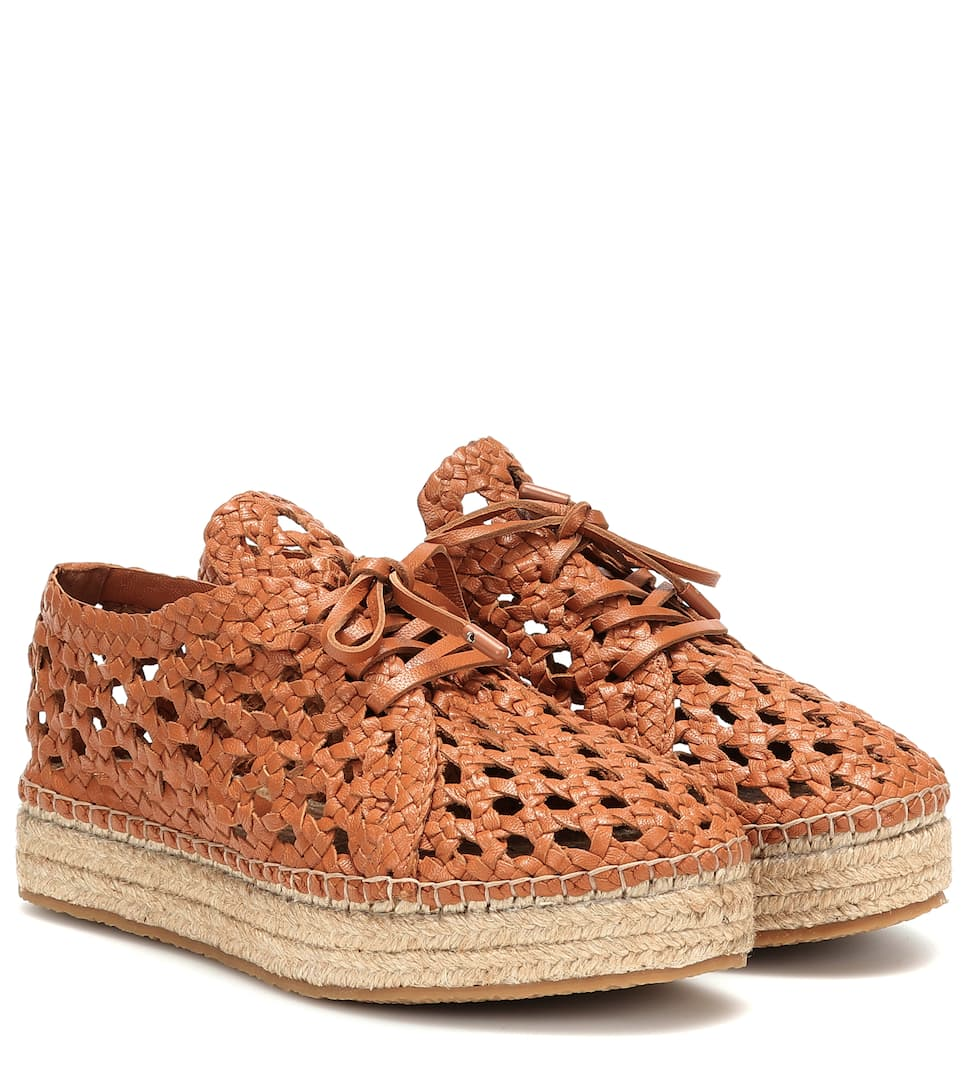 Woven Leather Platform Espadrilles | Zimmermann Mytheresa