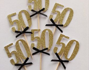 Fabulous at 50 birthday cake topper fifty and by BejuledCreations