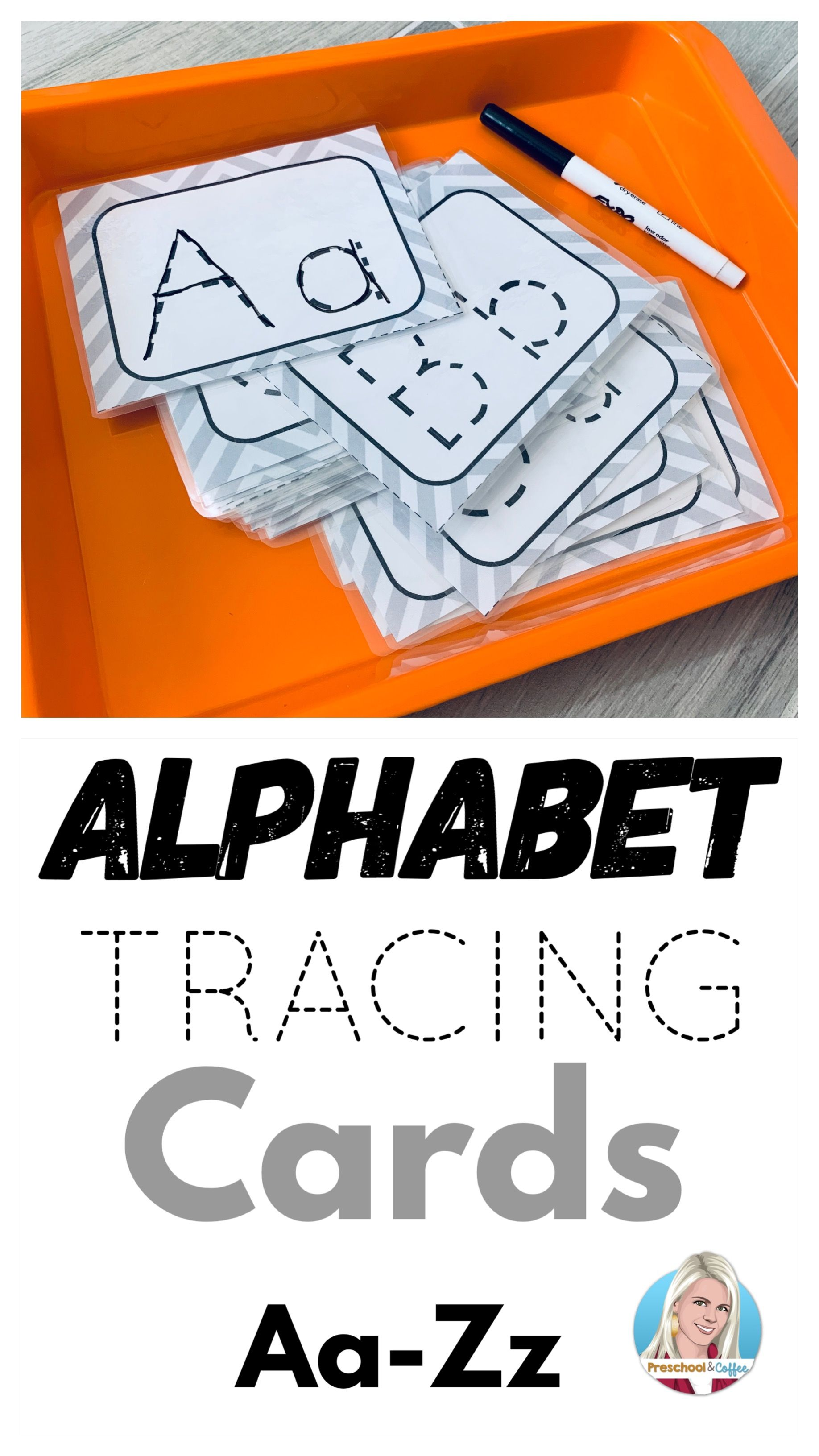 Alphabet Tracing Cards Aa Zz