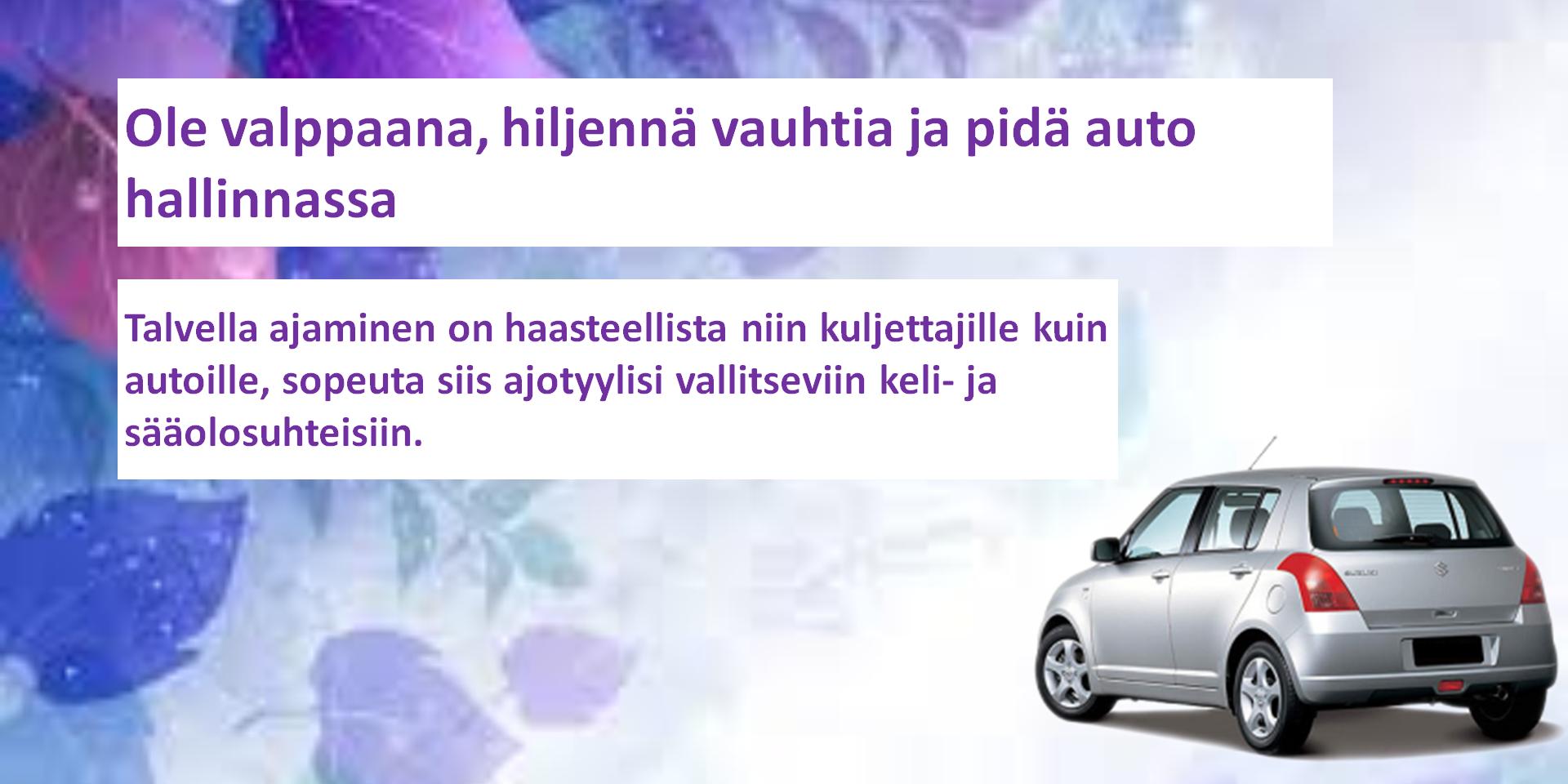 Lumipyryn, rankkasateen, sumun tai liukkauden aiheuttamat vaikeat ajo-olosuhteet haastavat kuljettajaa. Ennakointi on paras tapa vastata näihin vaihtuvan kelin haasteisiin.  URL : http://vianor.fi/renkaat/nokian-renkaat/ #hakkapeliitta 7