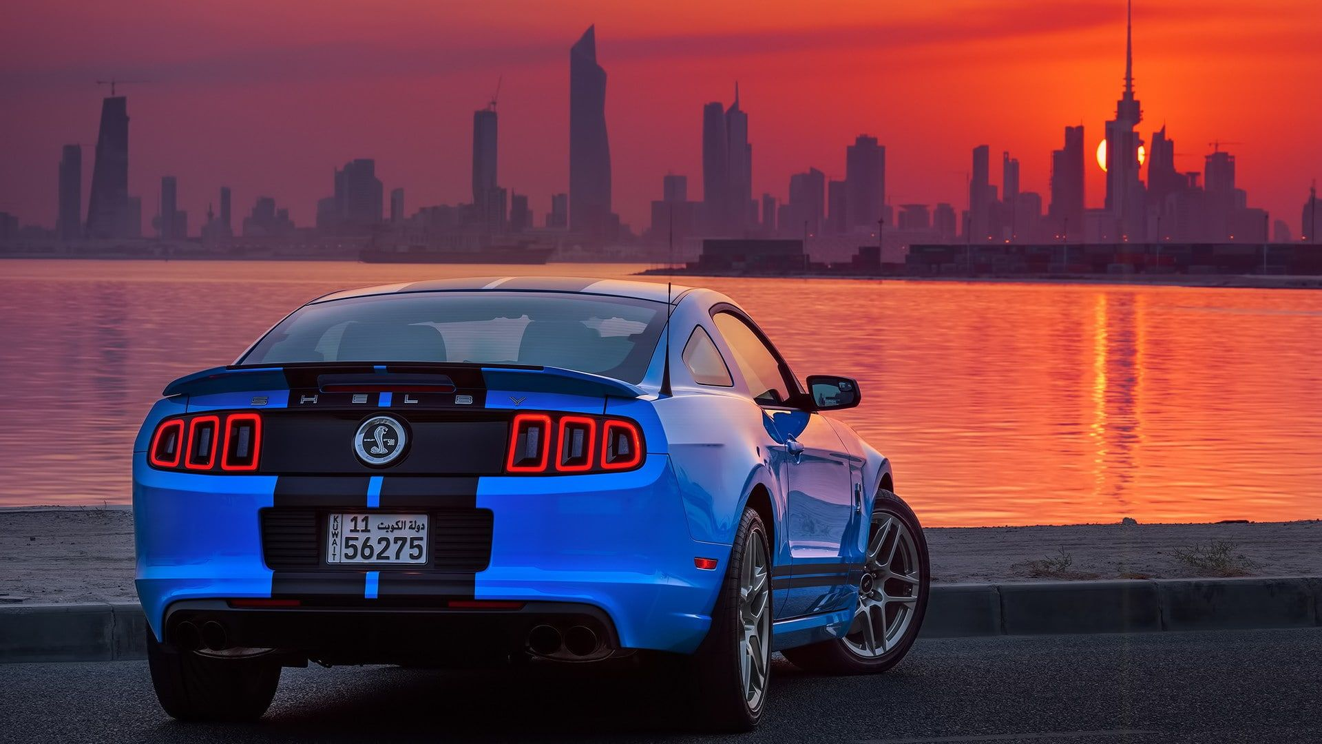 Shelby Gt500 Ford Usa Car Ford Mustang Shelby Kuwait Blue Cars