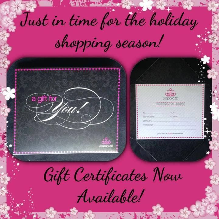 Gift Certificates   Paparazzi Accessories Tips and Ideas   Pinterest ...