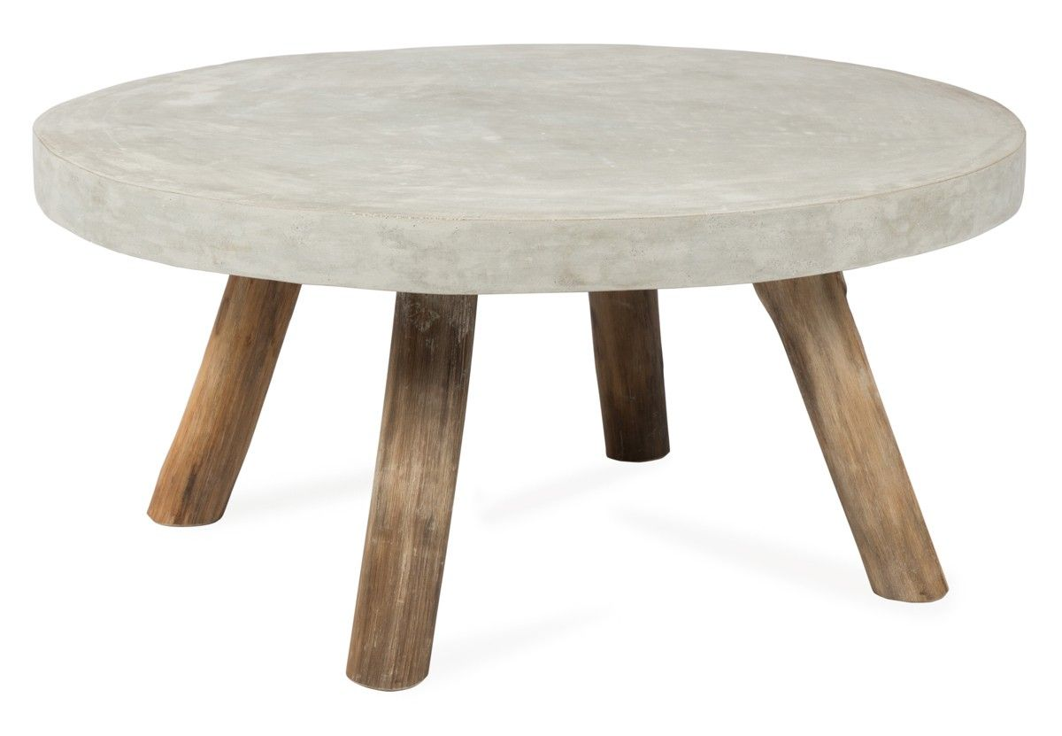 Cement And Wood Coffee Table Furniture Pinterest Wood Coffee  # Muebles Tadel Grup