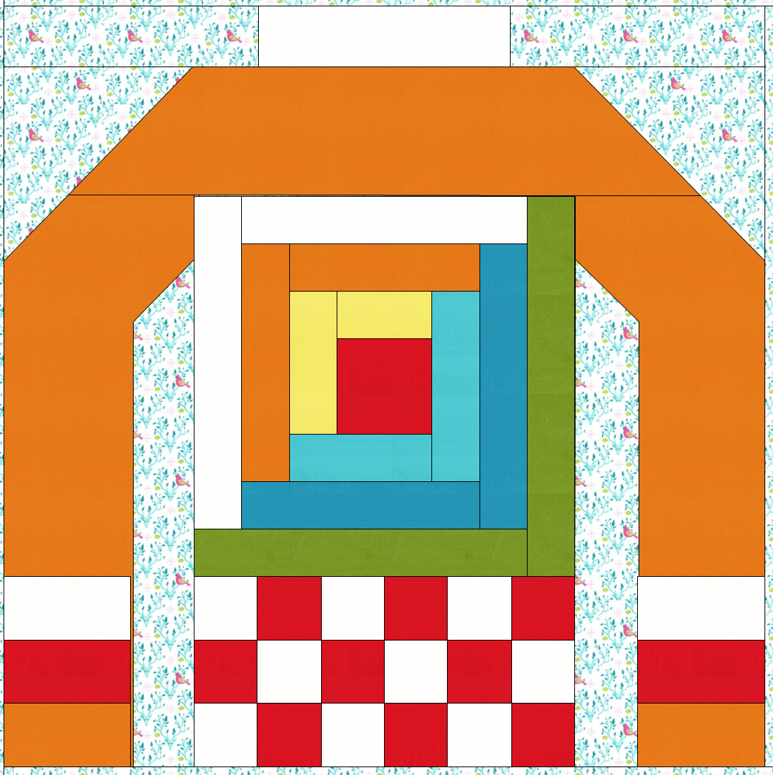 Sew Fresh Quilts: Ugly Christmas Sweaters QAL - Log Cabin Block #12