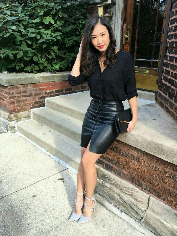 Lederlady   ファッション, ファッション レディース, 革製ペンシルスカート