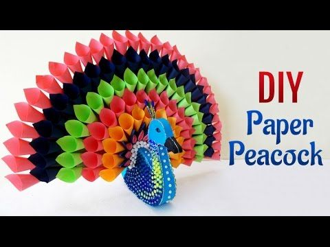 DIY Paper Craft Projects How to Make Multicolored Paper Peacock