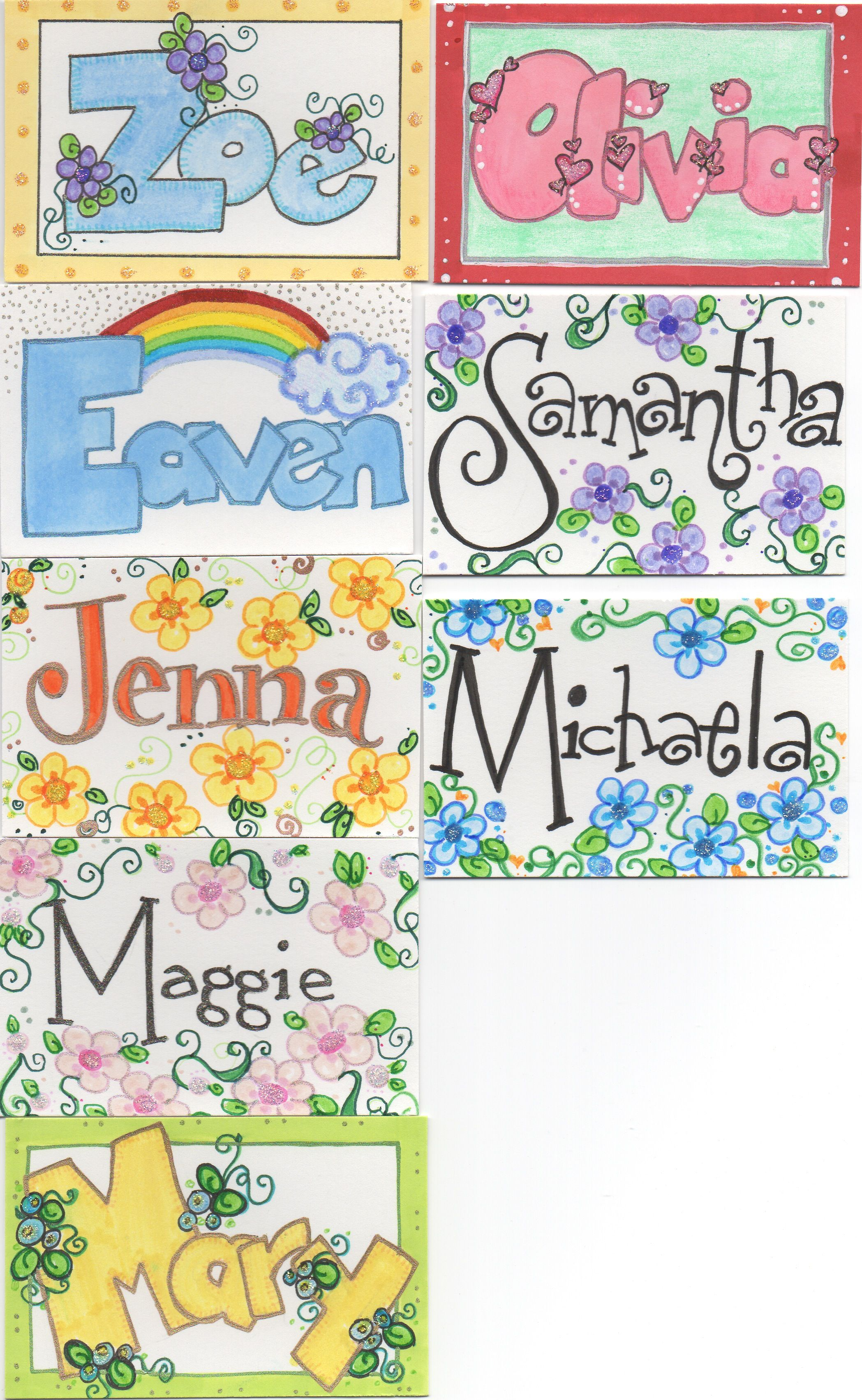 Name tags I drew for kids I work with. 4 | Dawn Alice Rogers - My ...