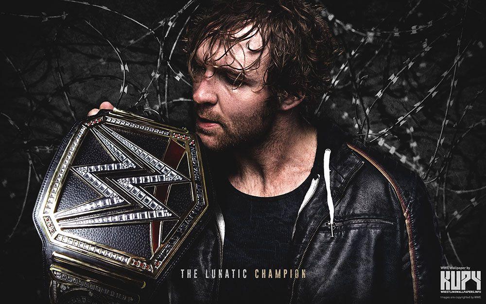 The Lunatic Champion Dean ambrose, Wwe wallpapers, Wwe