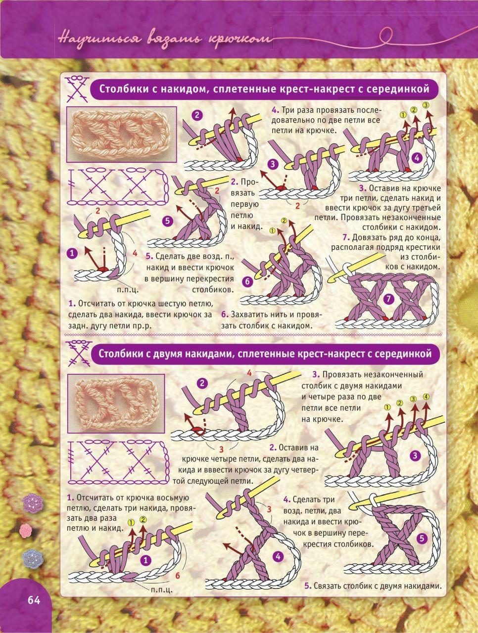 вязание крючком пошаговый самоучитель более 2000 иллюстраций