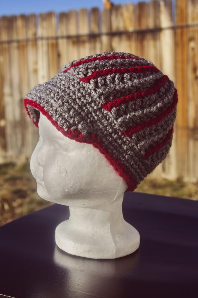 Eccentric Beanie << Free Pattern | Crochet Hat Patterns | Pinterest ...
