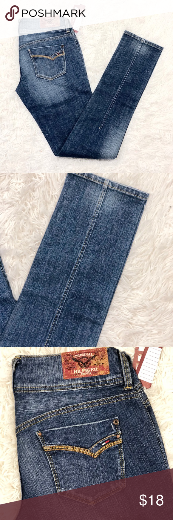 d4f7d208 Tommy Hilfiger Slim Fit Jeans New with Tags- Does have a factory defect  (mark on Leg) Please See last Photo Tommy Hilfiger Womens Slim Jeans W28 X  L34 ...