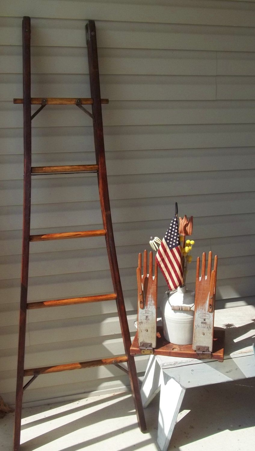 Reduced Vintage Authentic Folk Art Apple Orchard Ladder Authentic Rare 6 Ft By Treasuresbybetsy On Etsy Ladder Folk Art Etsy Site