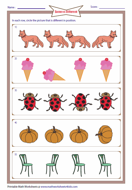 Picking Out Odd Position | school | Preschool worksheets ...