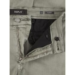 Photo of Denim chinos with Hyperflex, Zeumar, Slim Fit by Replay in Gruen for men ReplayReplay