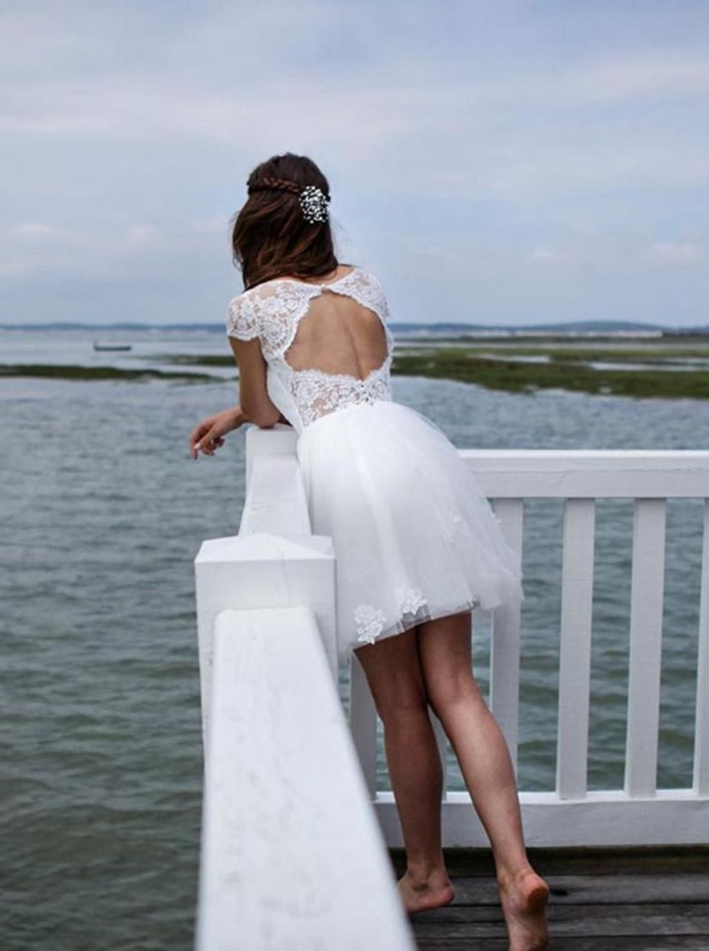 perfect short wedding dress for vow renewal short wedding