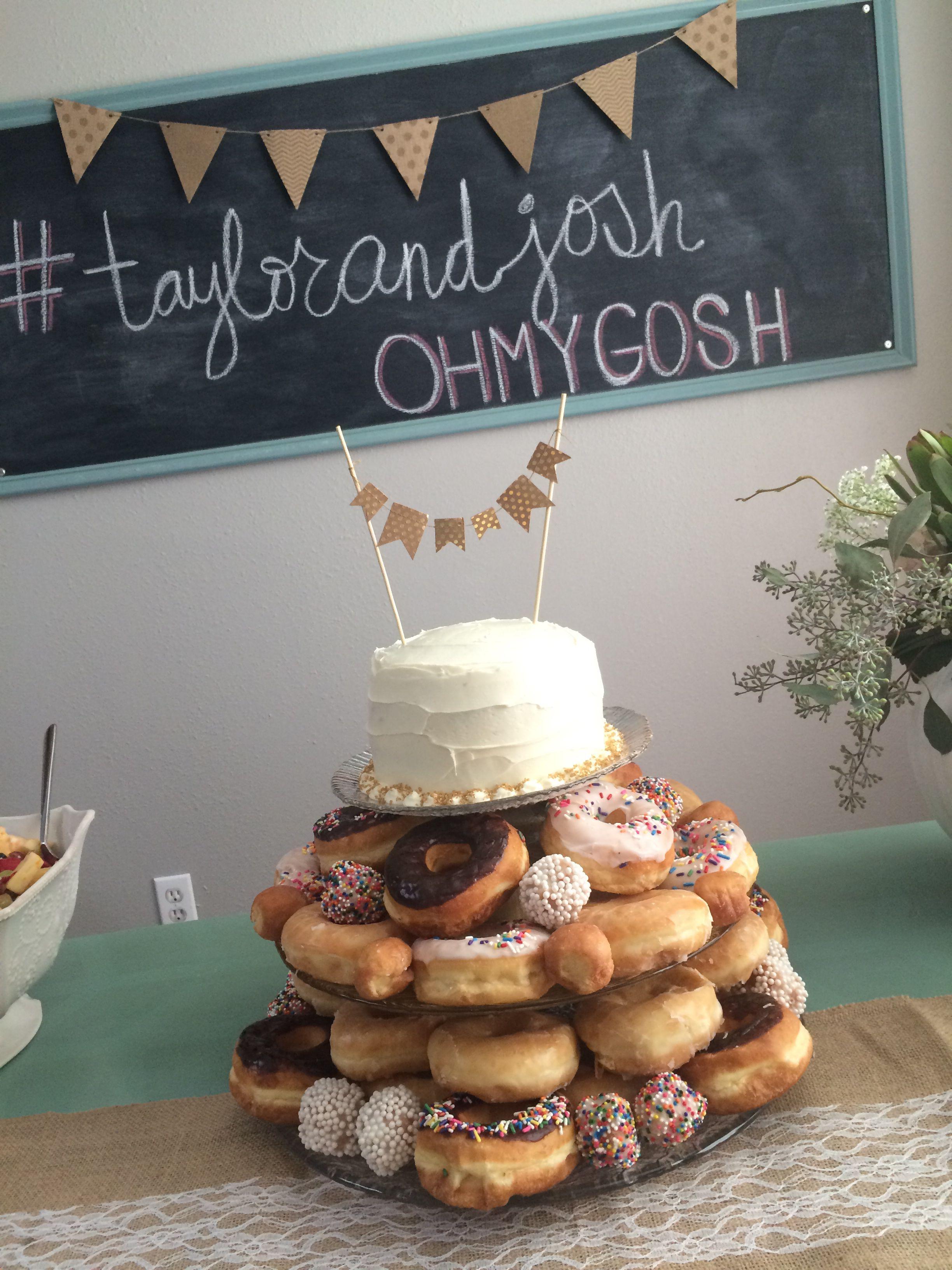 bridal shower donut cake