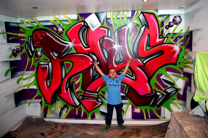 Perfect for teen boys room ideas for the boys new rooms pinterest graffiti bedroom room Painting graffiti on bedroom walls