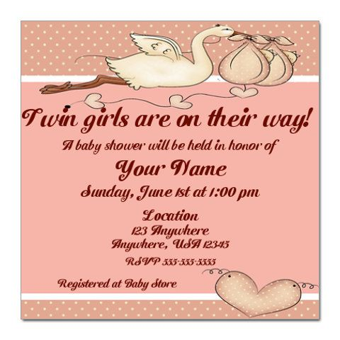 It is a picture of Free Printable Twin Baby Shower Invitations for personalized