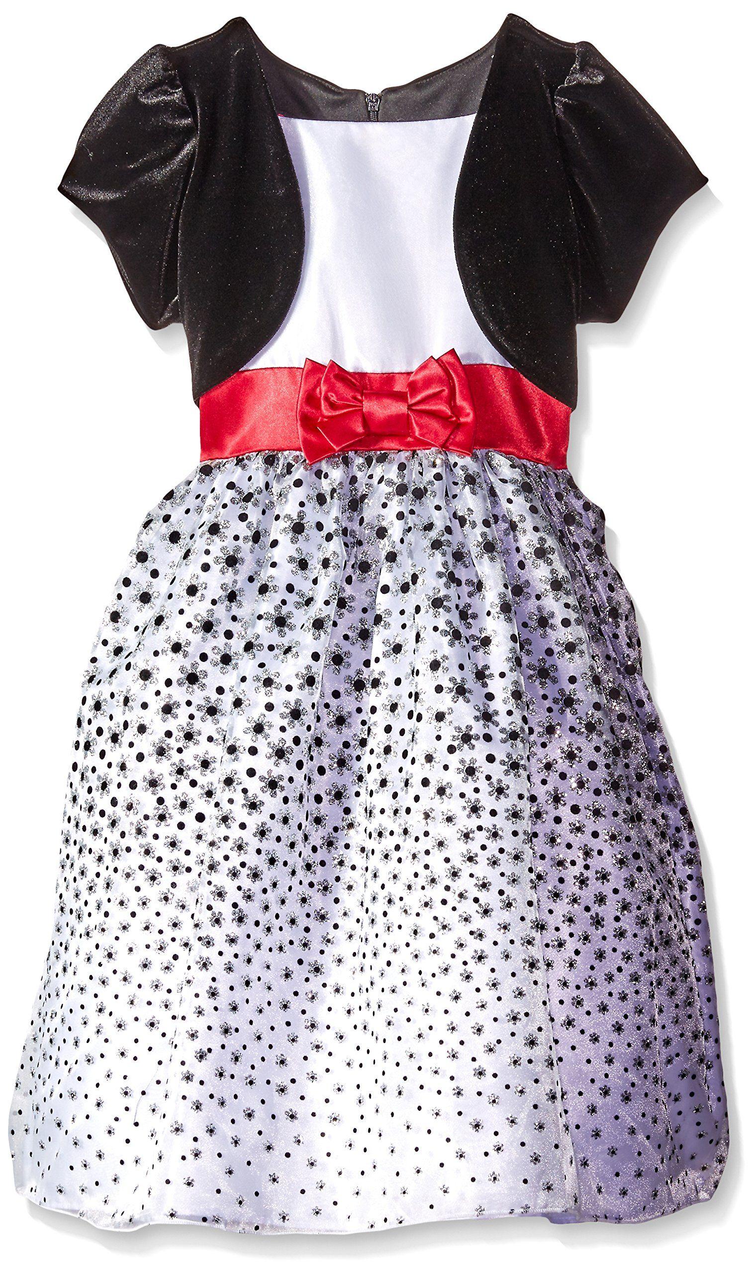 dac464a91 LOVE Big Girls  Velvet Shrug Falling Flower Glitter Flock Dress ...
