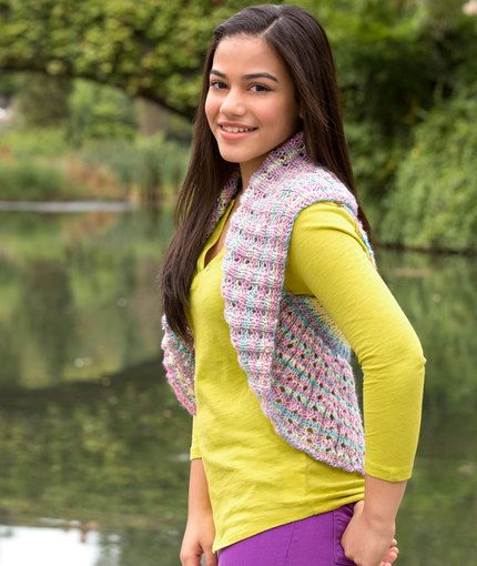 Teen Endless Circle Vest http://www.redheart.com/free-patterns/teen ...