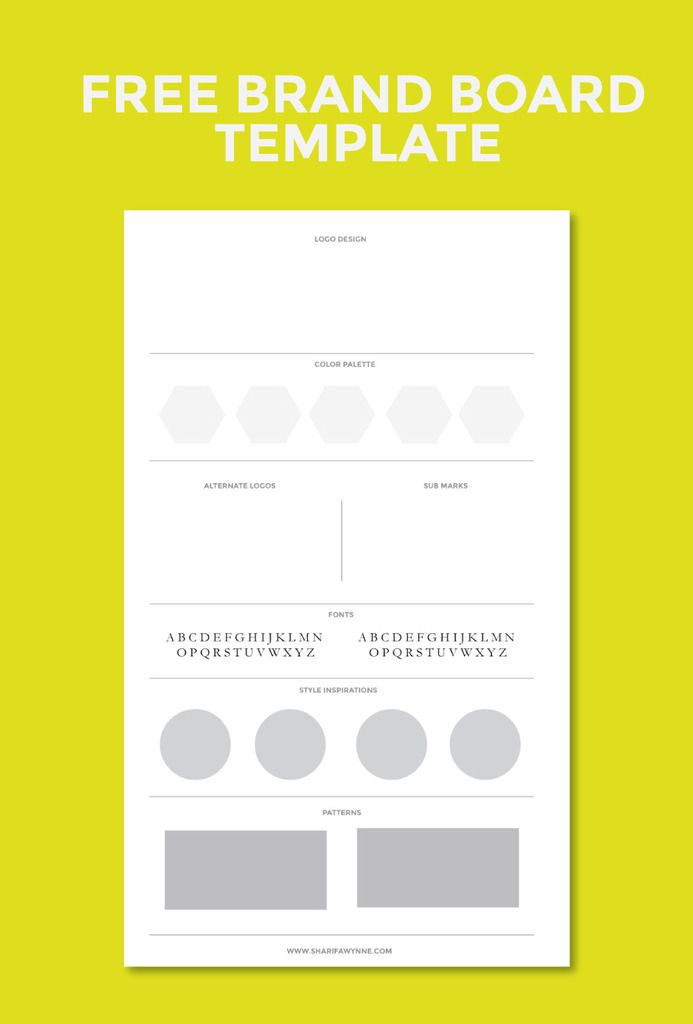 Creating a brand board for your blog graphics design for Free brand guidelines template