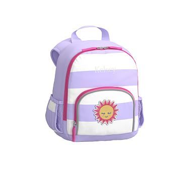 Pre-K Backpack, Fairfax Lavender Bright Pink Stripe, Sun