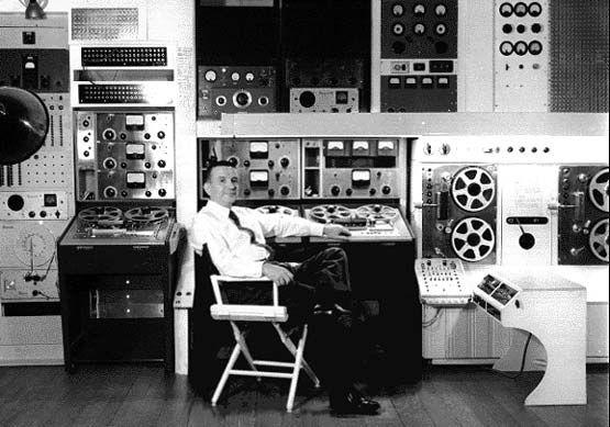 Electronic recording studio designed & built by Raymond Scott
