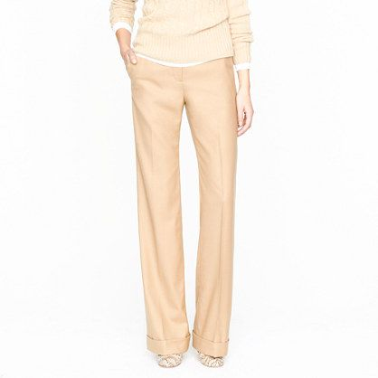 Hutton trouser in wool flannel j crew $158 - if only they ...