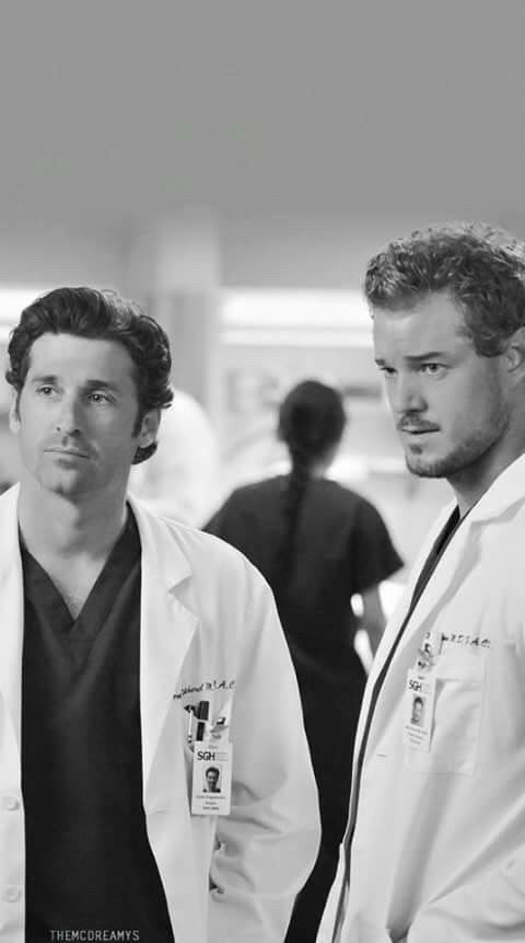 Grey's Anatomy - Derek & Mark omggg they're so beautiful