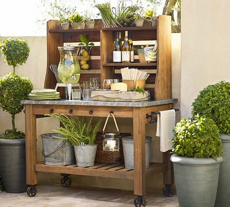 20 exciting kitchen trolleys carts outdoor patio bar outdoor potting bench potting bench bar on kitchen island ideas kitchen bar carts id=43056