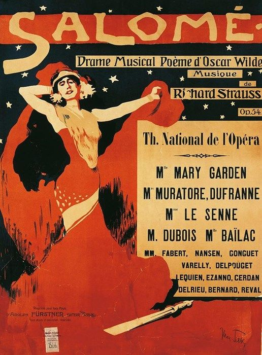 Poster of the opera Salome by Richard Strauss Credit: Max Tilke (1869-1942)