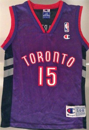 TORONTO RAPTORS Vintage NBA Basketball Jersey Boys Youth Sz S  15 Vince  Carter ebfc502e7