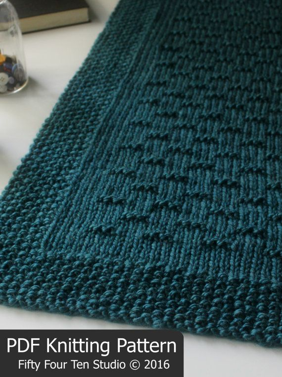 KNITTING PATTERN / Flint Hills Blanket / Throw / Afghan / Knit ...