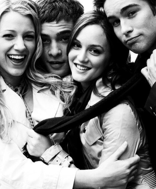 Leighton Meester, Blake Lively, Chace Crawford, Ed Westwick; Gossip Girl love <3