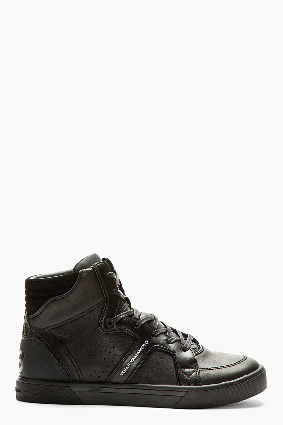 63e996122 Y-3 Black Rydge High-Top Sneakers